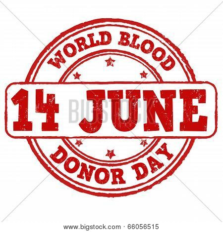 World Blood Donor Day Stamp