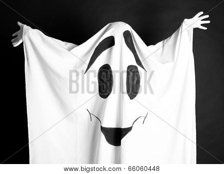 Halloween ghost, on dark background