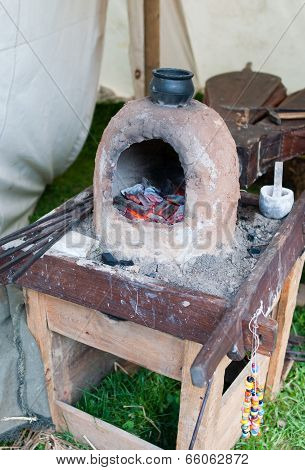 Ancient Earthen Glass Furnace