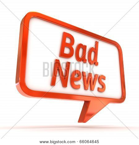 Speech Bubble Bad News
