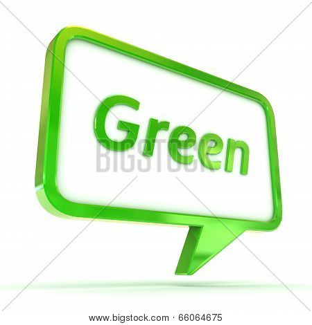 Speech Bubble Green