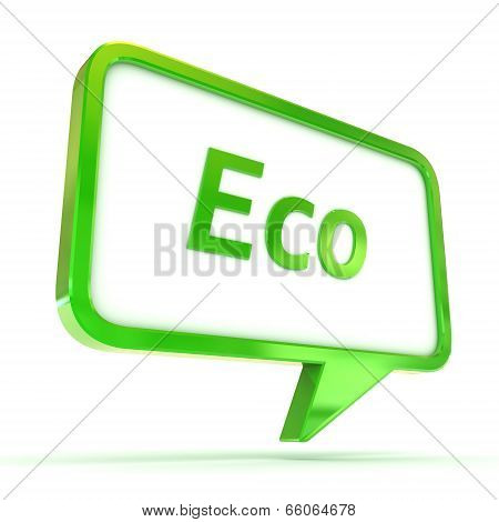 Speech Bubble Eco