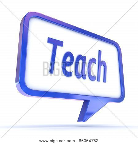 Speech Bubble Teach