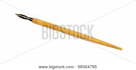 Old Nib Pen Isolated On White Background