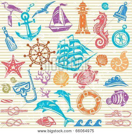 Nautical and sea set