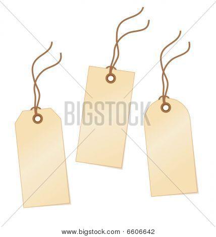 Yellow vector tags