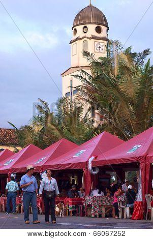Main Square in Salento, Colombia