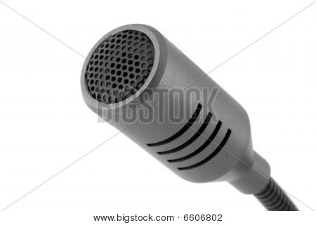 Microfone cinza