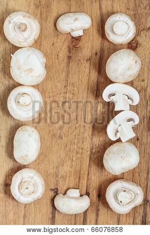 Food. Fresh White Mushrooms Champigonons