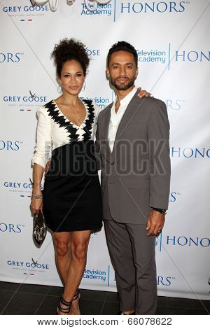 LOS ANGELES - JUN 1:  Sherri Saum, Kamar de los Reyes at the 7th Annual Television Academy Honors at SLS Hotel on June 1, 2014 in Los Angeles, CA