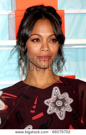 LOS ANGELES - MAY 30:  Zoe Saldana at the Step Up's Inspiration Network Luncheon at Beverly Hilton on May 30, 2014 in Beverly Hills, CA