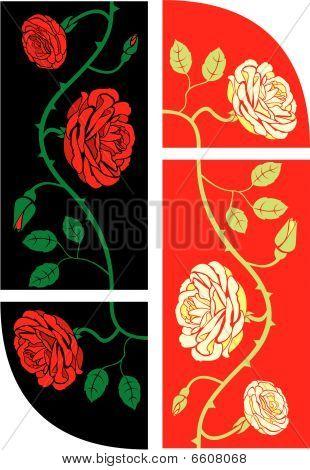 Rosas marco inconsútiles elementos