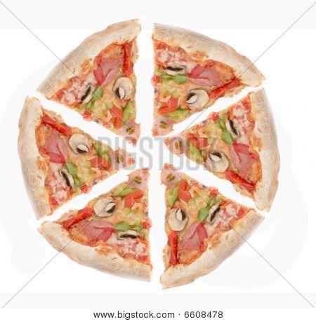 Schinken und Paprika Pizza Slices