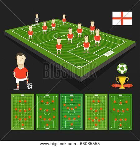 Soccer world cup team presentation. England team