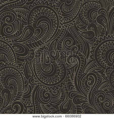 Vintage decorative floral ornamental seamless pattern