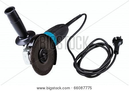 Small Angle Grinder With Abrasive Disk