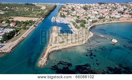Top View Of An Ancient Town Of Halkidiki, A Corinthian Colony, Potidea.