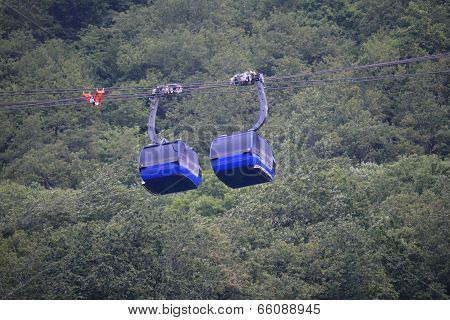 Two Ropeway Cabins Nearby