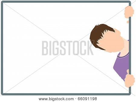 boy silhouette in frame