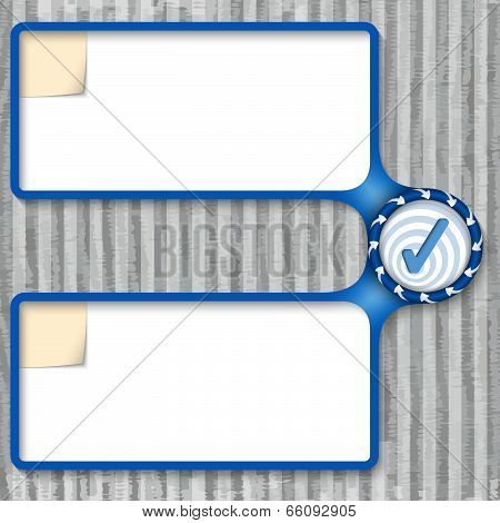 Double Box For Entering Text With Arrows And Check Box