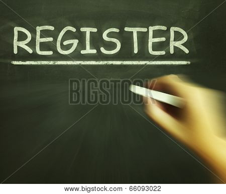 Register Chalk Shows Joining Subscribing Or Check In