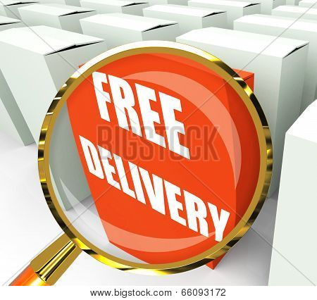 Free Delivery Sign On Packet Show No Charge To Deliver