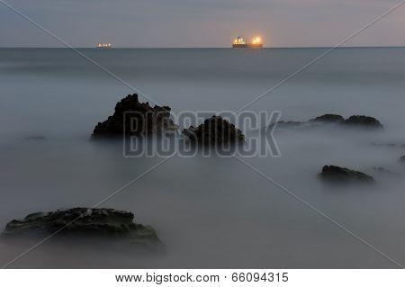 Seashore After Sunset