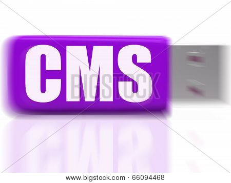 Cms Usb Drive Means Content Optimization Or Data Traffic