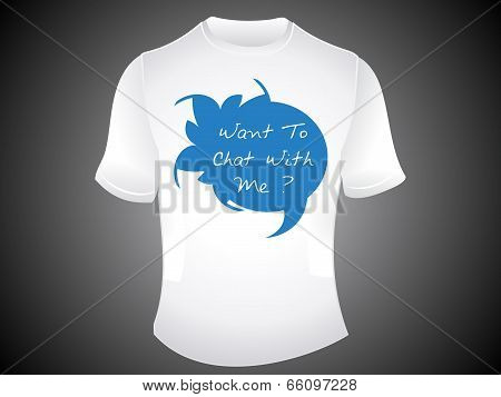 Abstract Chat Tshirt Template