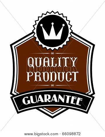 Quality product label