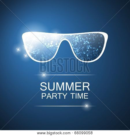 Abstract Summer Party Card, Cover or Flyer Template - Vector Design Concept