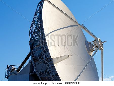 Radio Telescope Against  Blue Sky