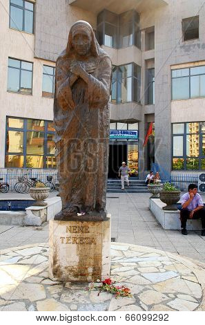 Mother Teresa Monument In Shkoder, Albania