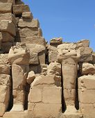 picture of beheaded  - beheaded statues of Karnak Temple ancient ruins - JPG