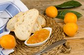 image of loquat  - Freshly picked loquats and some homamade marmalade - JPG
