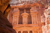 stock photo of petra jordan  - Al Khazneh in Petra - JPG