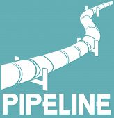 stock photo of pipeline  - pipeline sign  - JPG