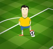 pic of substitutes  - World soccer championship in Brazil illustration - JPG
