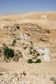 stock photo of jericho  - Saint George Monastery Wadi Qelt Judean Desert Israel  - JPG