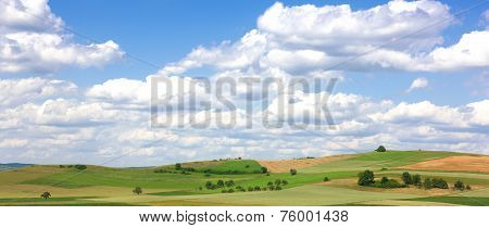 Landscape in the Hegau, Germany