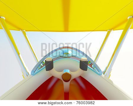 cartoon airplane cockpit
