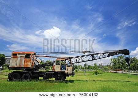 Old Automobile Crane