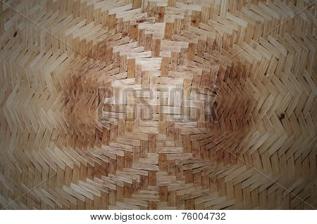 Old Wicker Woven Rattan Texture