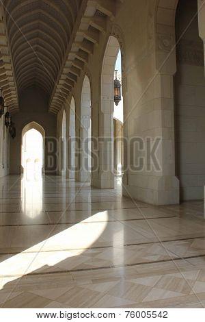 Sultan Qaboos Grand Mosque corridor