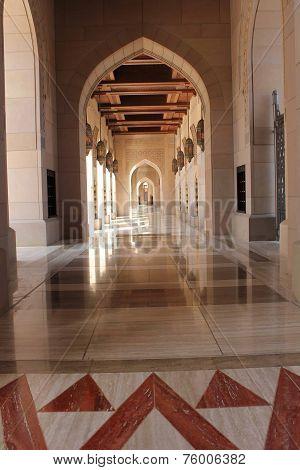 Grand Mosque corridor, Oman