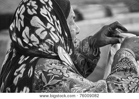 Arab senior Woman portrait