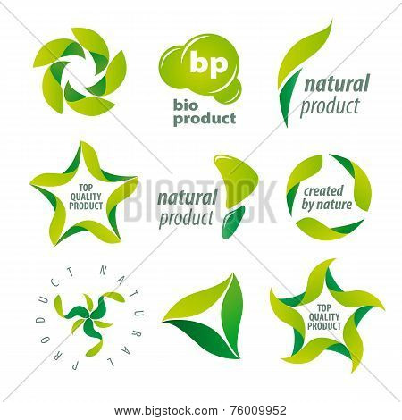 Set Of Vector Icons For Organic Natural Products