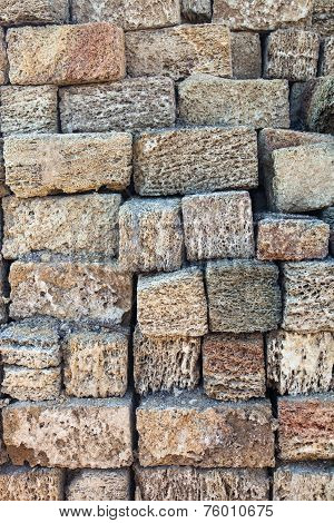 Stack Of Coquina Bricks