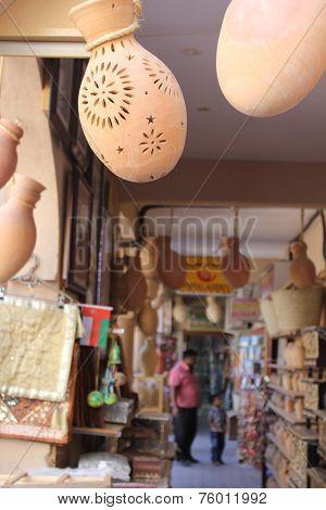 A Typical Souvenir Shop In Nizwa City,
