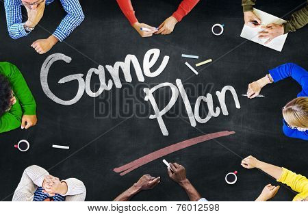 Group of Multiethnic People Discussing About Game Plan